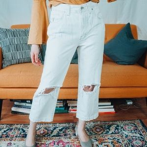Madewell Where I Was From Slim Straight Crop Jeans
